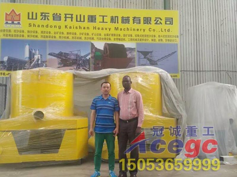 非洲贝宁客户来公司参观订购离心机重选设备